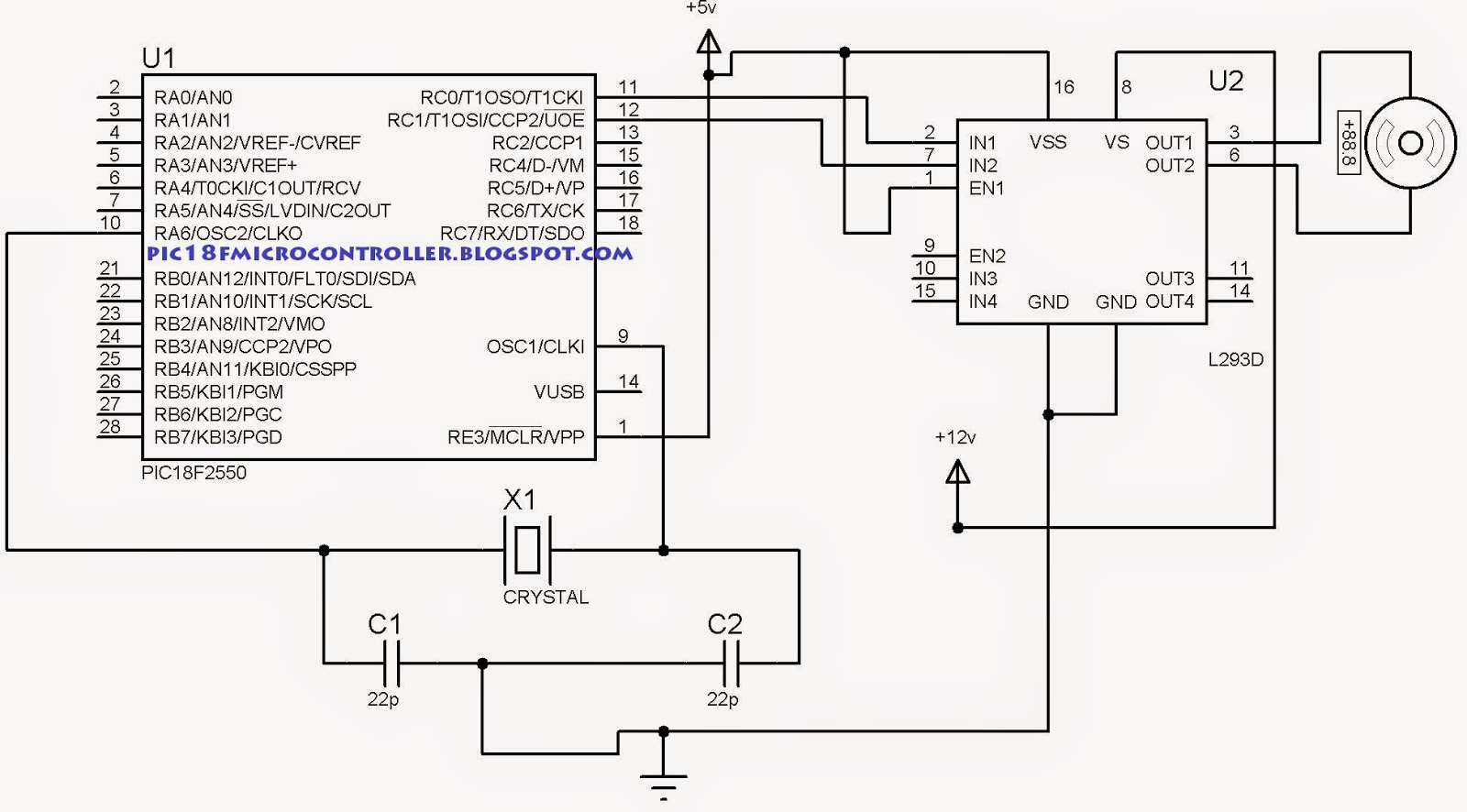 DC Motor Interfacing with PIC Microcontroller ( PIC18F2550 ) in Proteus [step by step]