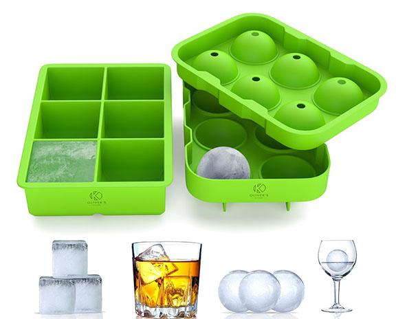 Silicone ice cube tray set