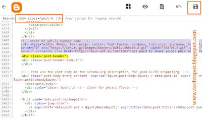 Add AdSense Below Post Title In Blogger 2