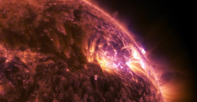 NASA-recorded solar flare. Credit: NASA
