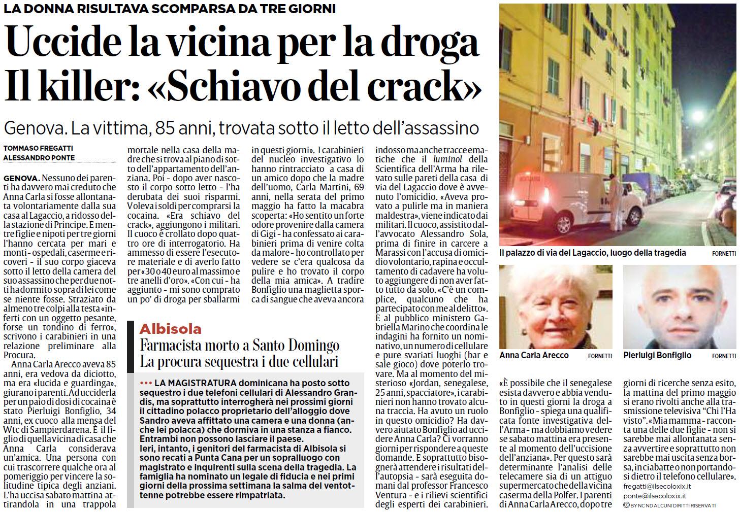 Alassiofutura genova uccide la vicina per la droga la donna risultava scomparsa da tre - Tv a scomparsa sotto il letto ...
