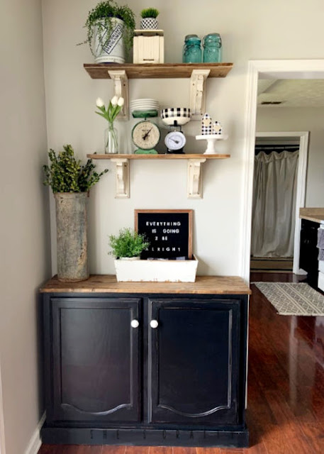 How to easily Make a Sideboard or Buffet from a kitchen cabinet