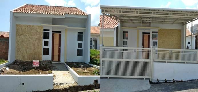 Warna Depan Rumah Minimalis type 30 kombinasi putih dan kuning