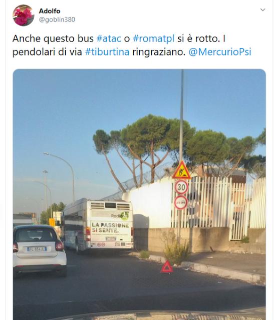 Situazione del trasporto pubblico di Roma di martedì 15 ottobre
