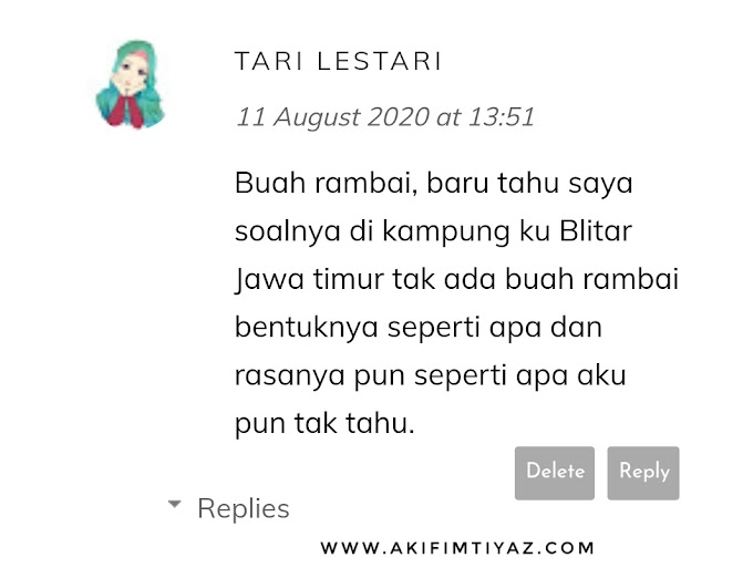 Entri Buah Rambai Untuk Blogger Tari Lestari