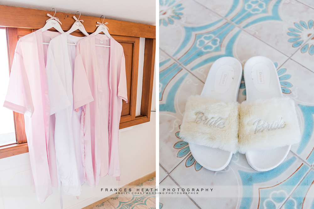 Bride's robe and slippers