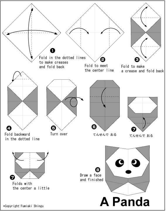 පැන්ඩාව හදමු (Origami Panda) - Your Choice Way