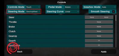 3. Kemudian kalian pilih Steering Mode