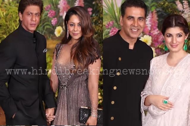 Sonam Kapoor & Anand Ahuja Wedding Party: Salman Khan aur Shahrukh Khan Khan Shahrukh Khan Khan के साथ Bollywood के तमाम Superstars पहुंचे