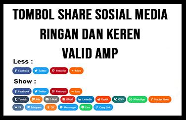 Membuat Tombol Share Sosial Media Ringan dan Keren Valid AMP