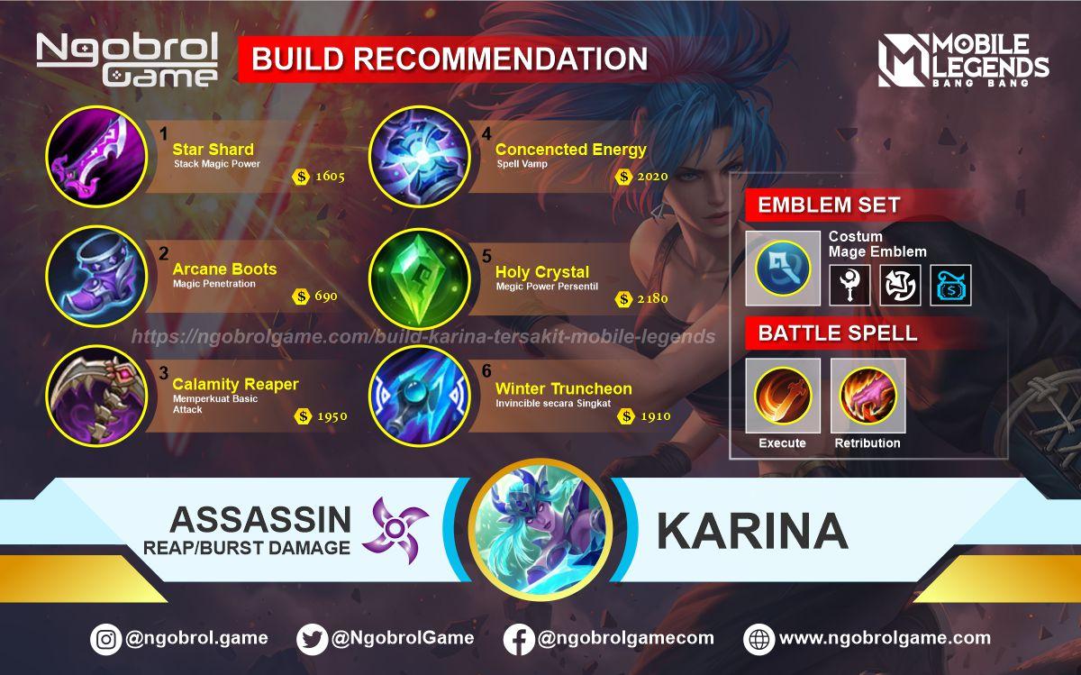 Strongest Build Karina Revamp 20 Mobile Legends   MOBA Games