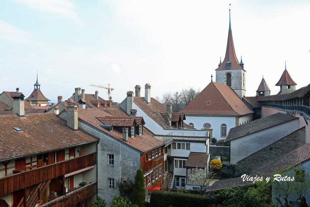 Vistas desde la muralla de Murten