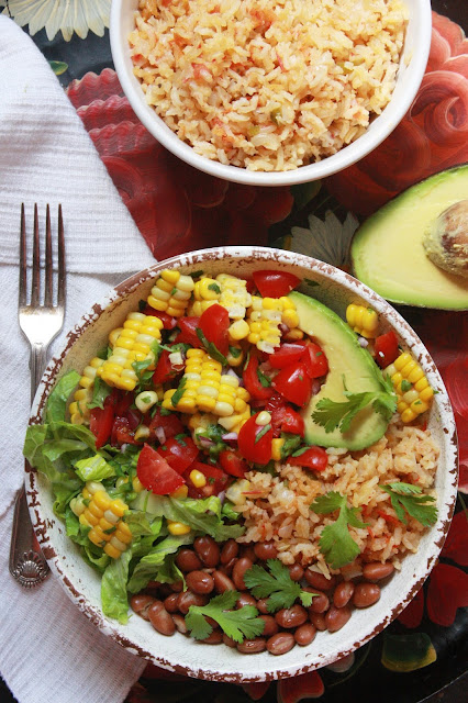 Fiesta Veggie Bowl - Recipe by Supper With Michelle - Spanish Rice