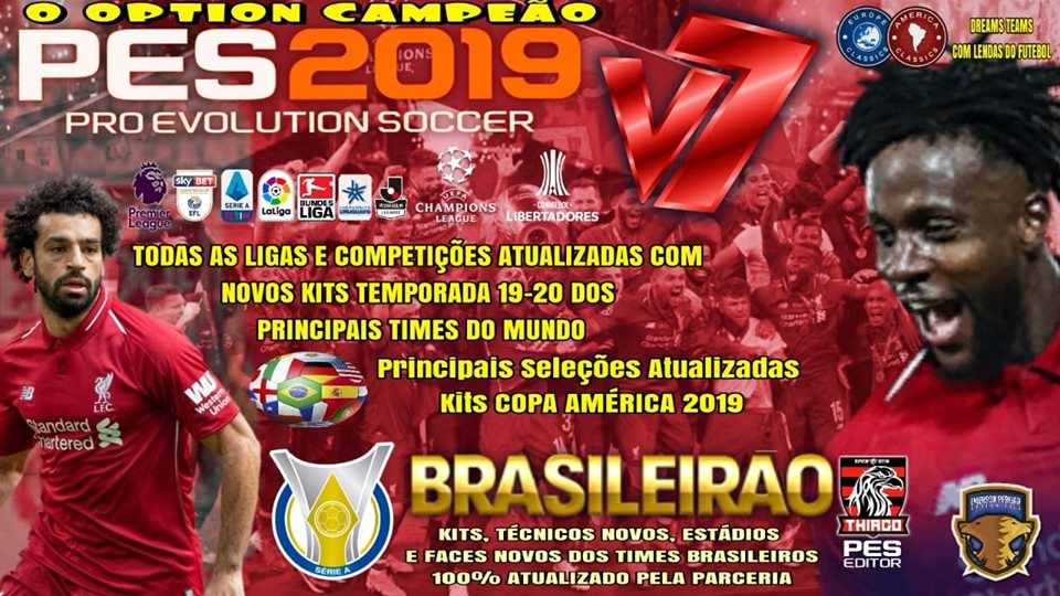PES 2019 PS4 Option File v7 DLC 6 0 by Emerson Pereira Season 2018