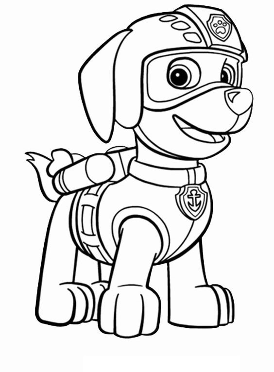 Paw patrol coloring pages 41