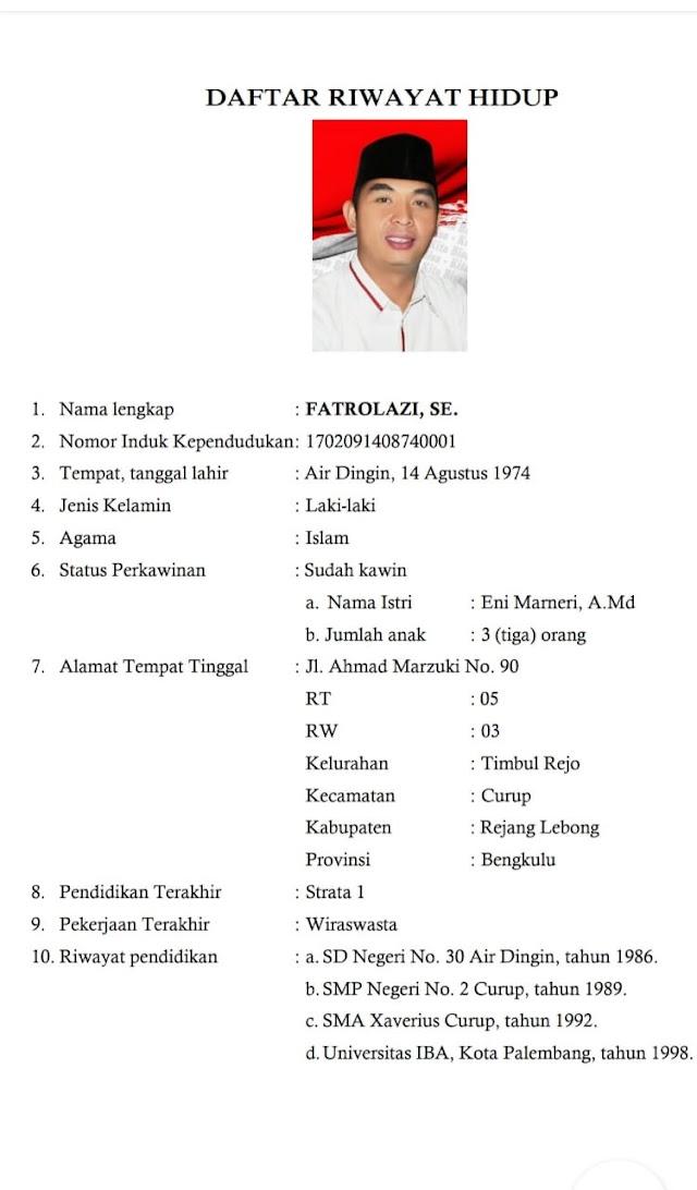 Inilah Profile Lengkap Cawabup Fatrol RL Nomor 1