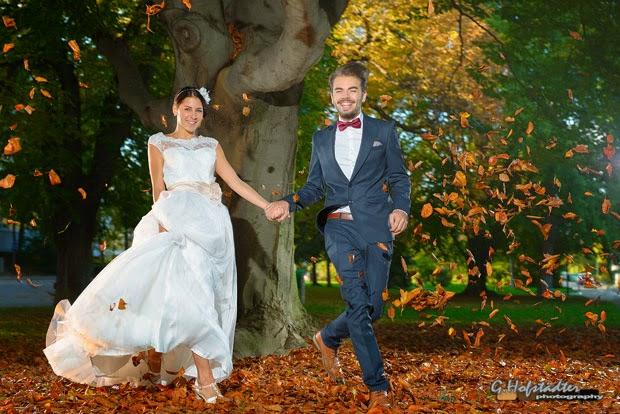 Hochzeit im herbstlichen Baden