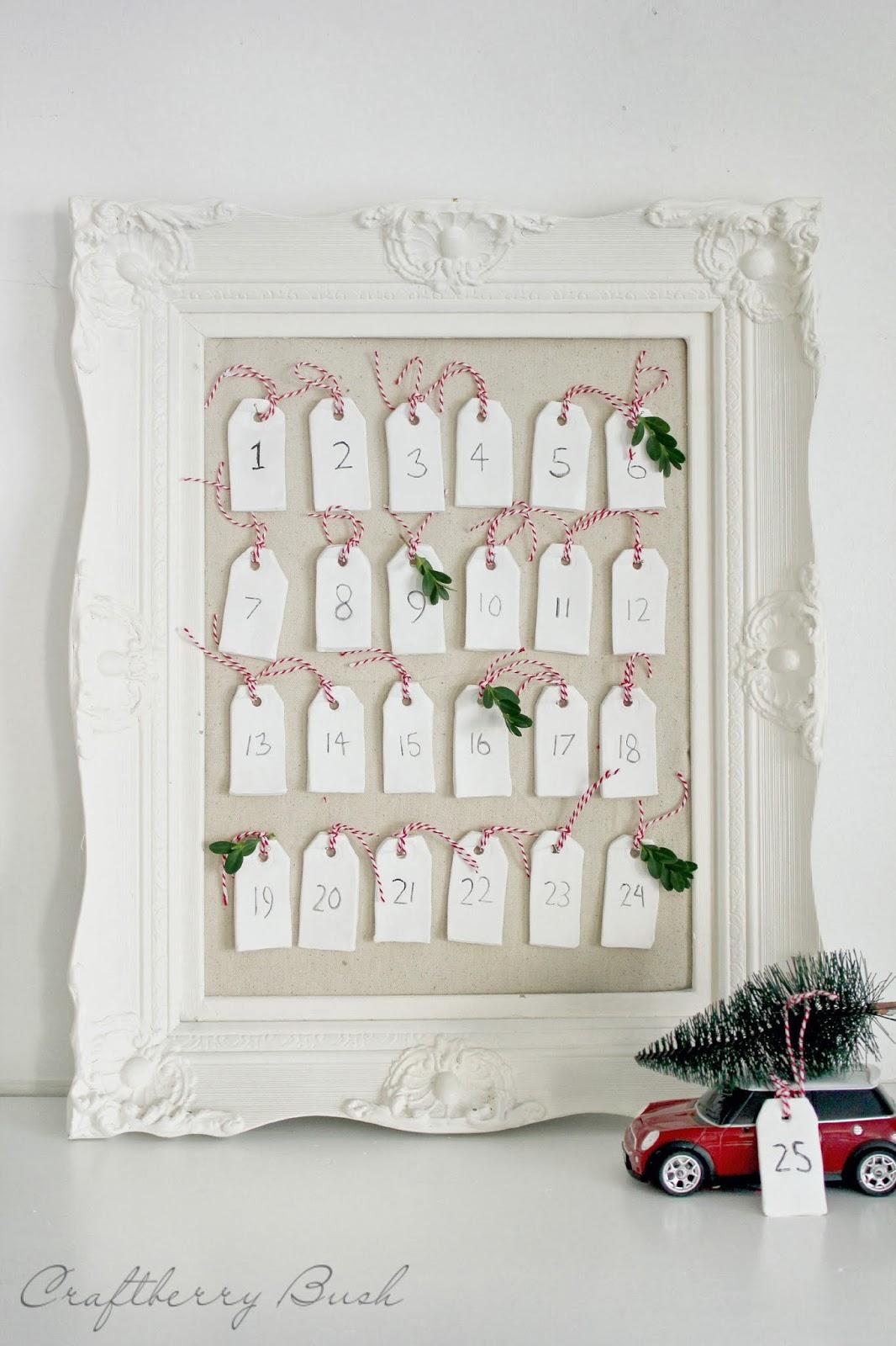 clay tag advent calendar diy. Black Bedroom Furniture Sets. Home Design Ideas
