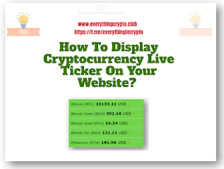How to display cryptocurrency live ticker on your website
