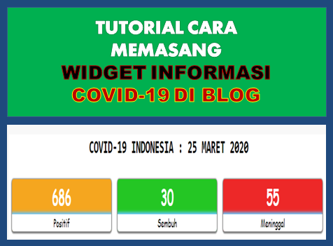 Cara Memasang Widget Update Info Covid 19 di Blog