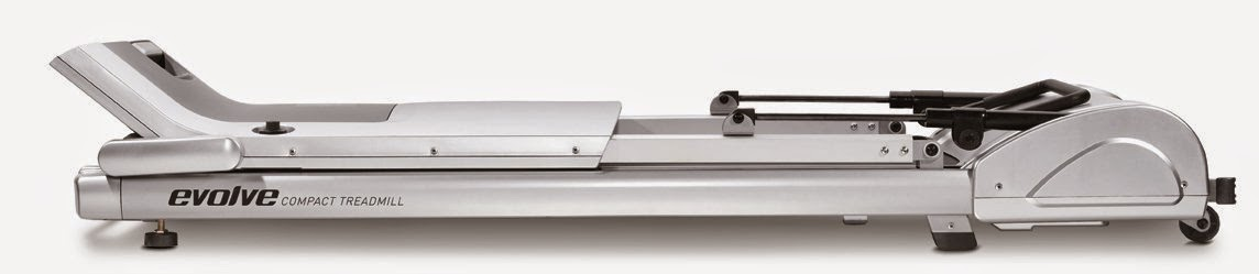 """Horizon Evolve SG Treadmill folds to just 10"""" high for storage"""