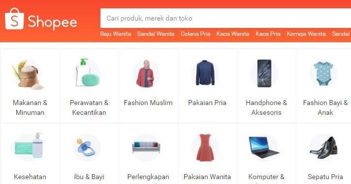 Cara Belanja Online Shopee : Beli Kuota Internet, Pakaian ...