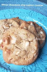 White chocolate chip walnut cookies