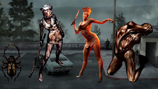 Creeper Bubble Head Nurse Enfermera Lying Figure Figura Misteriosa Simbolismo de monstruos de SIlent Hill 2