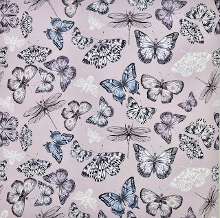 Butterfly design sheet from 12 x 12 Paper Flowers pad