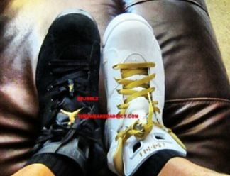 a3b4b921e22ab9 Here is a new video from Dj Delz putting the 2012 Air Jordan Gold Medal 6  VS the Defining Moments 6 Sneaker