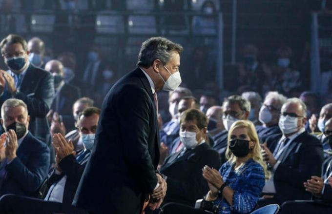 """Draghi a Confindustria, """"Sfida è crescita post-Covid duratura"""""""