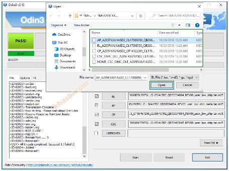 Menambahkan File Binary Samsung A20