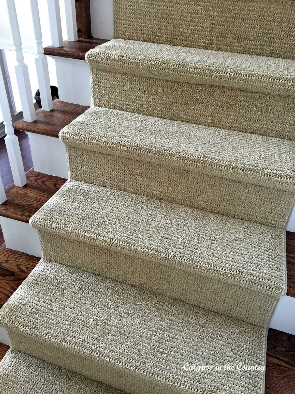 Sisal Look Runner on stairs - softer on the feet than sisal or seagrass