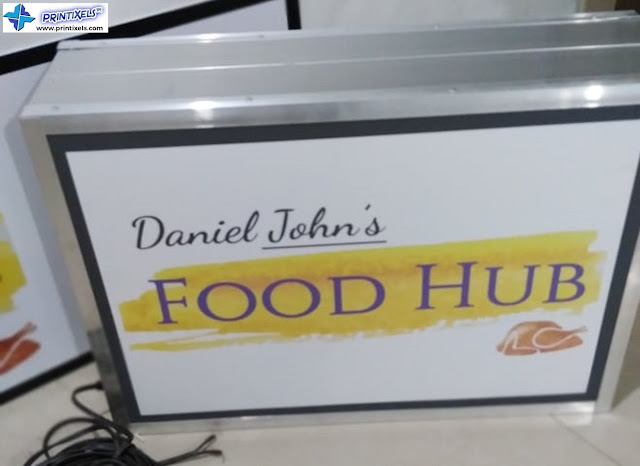 Lighted Panaflex Signage - Daniel John's Food Hub