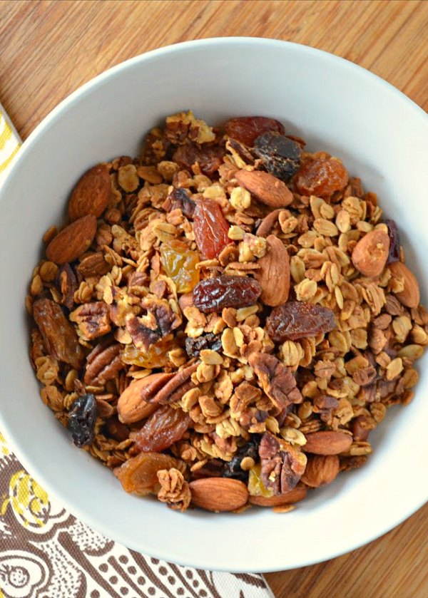 Healthy Granola recipe with Vanilla Honey Nut Raisin is a favorite easy recipe from Serena Bakes Simply From Scratch is delicious plain, with homemade yogurt, or milk.