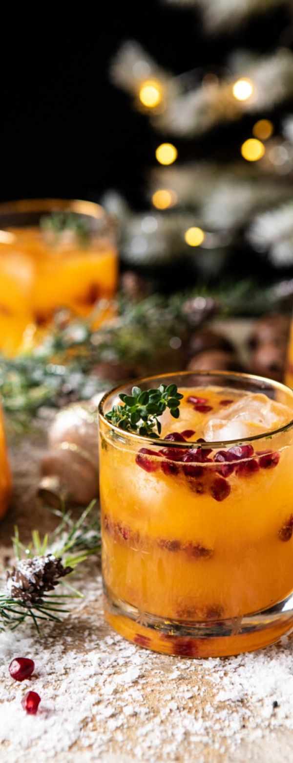 Holly Jolly Christmas Citrus Cocktail #ghristmas #cocktail