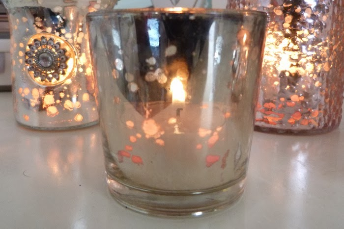 an image of shabby chic candle holder