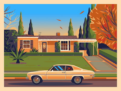 "Quentin Tarantino Neighborhood Prints ""Jimmie's House"" & ""Rick's House"" by George Townley x Bottleneck Gallery"