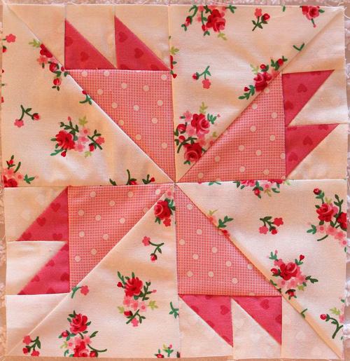 Rosebud Free Quilt Block Pattern