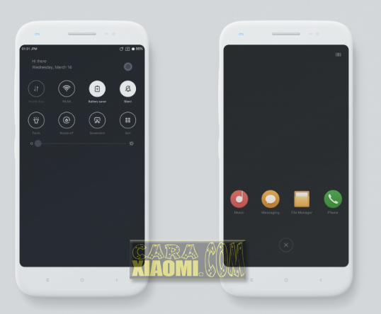 Download Tema Xiaomi Material Dark Simple Themes For Redmi V9 Themes