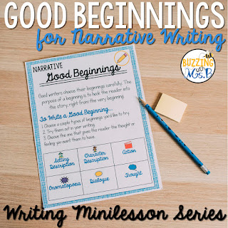 https://www.teacherspayteachers.com/Product/Good-Beginnings-Narrative-Writing-Minilesson-Unit-3805092