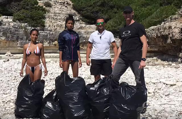 Ο Γουίλ Σμιθ και η οικογένειά του μάζεψαν τα σκουπίδια από παραλίες των Αντιπαξών (βίντεο)