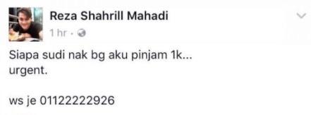 """""""Aku Saja Test Nak Minta Pinjam RM1,000, Tak Sangka Dia Satu-Satunya Yang Sudi Bagi"""""""