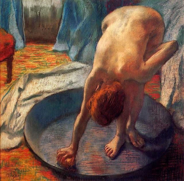 Эдгар Дега - Женщина в тазу (1886)