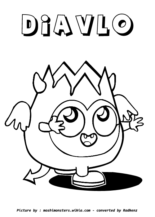 Moshi Monsters Coloring Pages to Print - Get Coloring Pages | 700x500