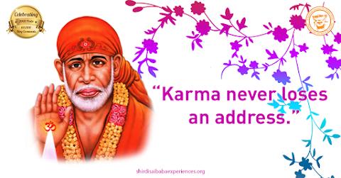 Strong Karma - Sai Baba Blessing Hand Painting Image