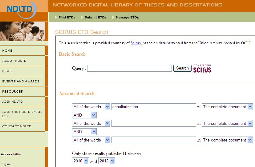 Electronic thesis and dissertation database lsu