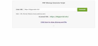 PHP Sitemap Generator Script 2019