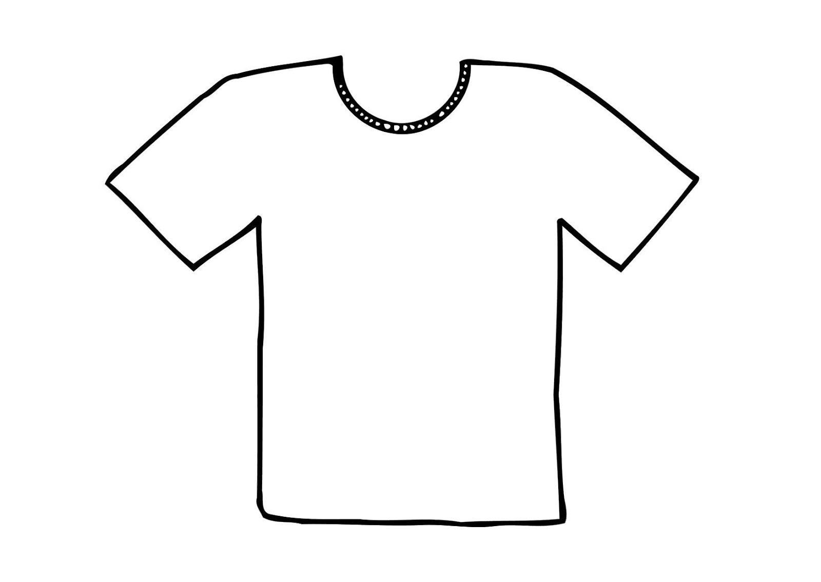 Único Camiseta Lisa Para Colorear Patrón - Enmarcado Para Colorear ...