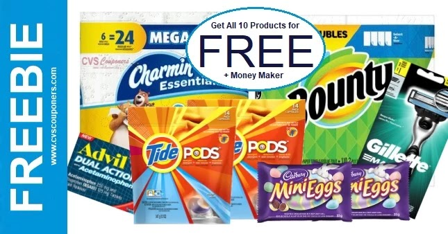 FREE Bounty, Charmin, Tide, Gillette at CVS